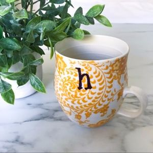 Anthropologie Homegrown Monogram Mug Letter H